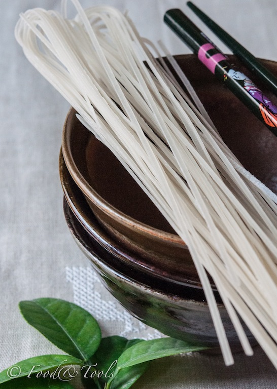 Dried Rice Noodles, Lime Leaves