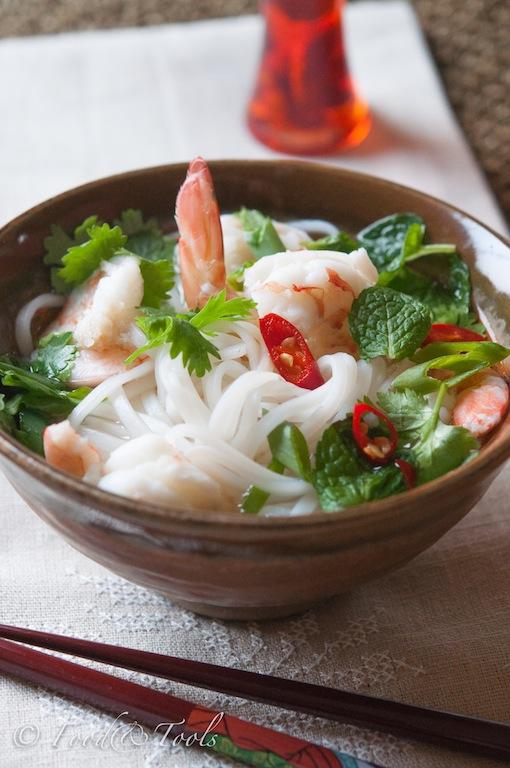 Vietnamese Noodle Prawn Soup