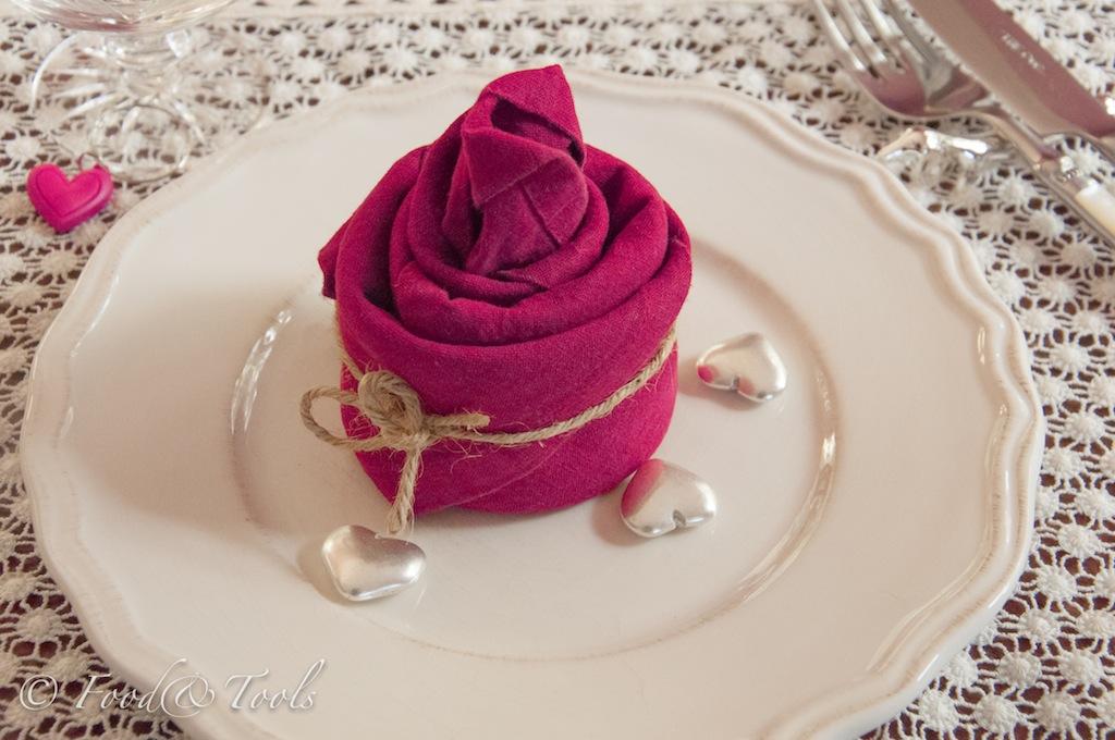 Tea light napkin fold for valentine s food and tools