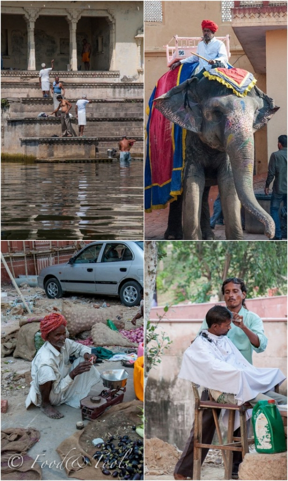 Collage of images in India