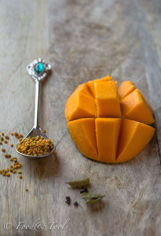 mango-bee pollen-cardamom pods