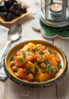 Butternut Squash-Potato-Chickpea Stew-Coriander-Mint