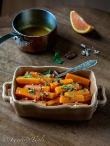 Orange Glazed Carrots with Pecans and Coriander-8579