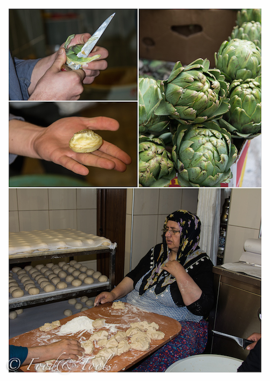 Traditional bread making and artichoke hearts