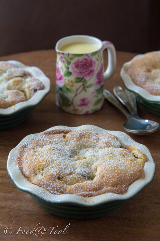 Eve's Pudding with Dates and Custard
