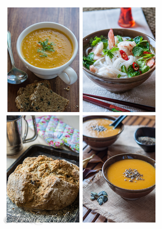 Collection of Soups and Soda Bread