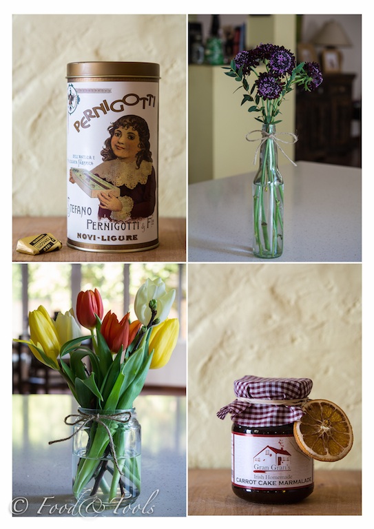 Chocolate Tin, Flowers and Marmalade