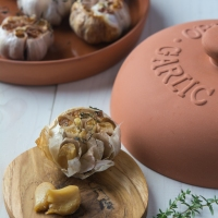 Roasted Garlic in a Terracotta Garlic Baker