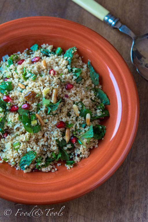 Couscous with Fresh Mint Leaves and Pomegranate-5251
