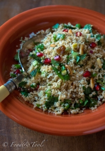 Couscous with Fresh Mint Leaves and Pomegranate-5267