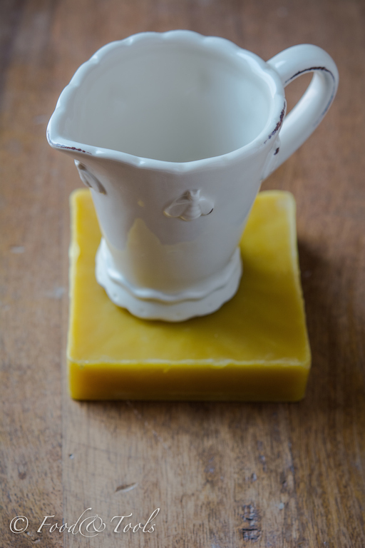 Milk Jug and Block of Bees Wax
