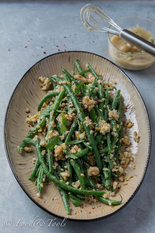Salad of Green Beans with Freekeh and Tahini Dressing