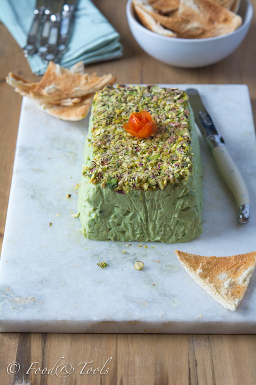 Avocado Pistachio Pate with Melba Toast-7755
