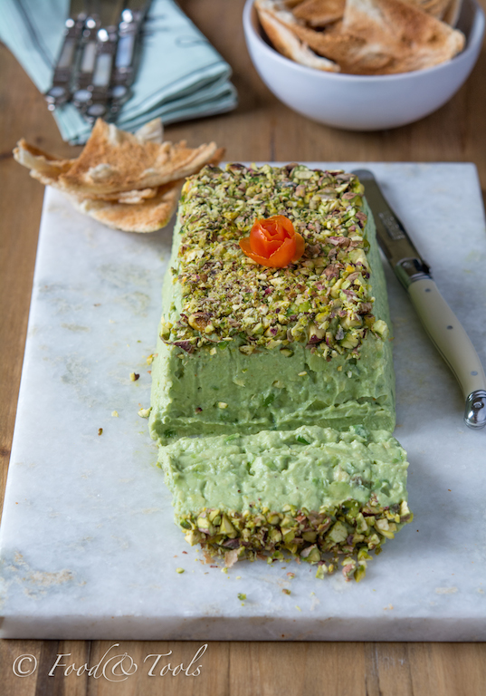 Avocado Pistachio Pate with Melba Toast-7760