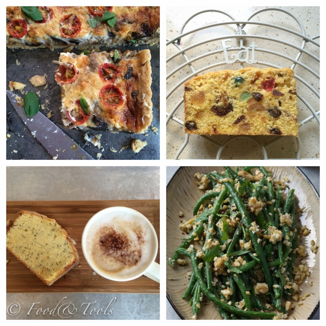 Vegetabel Tart_ Pumpkin Fruit Cake_Lemon Poppy Seed Cake_Green Bean Salad