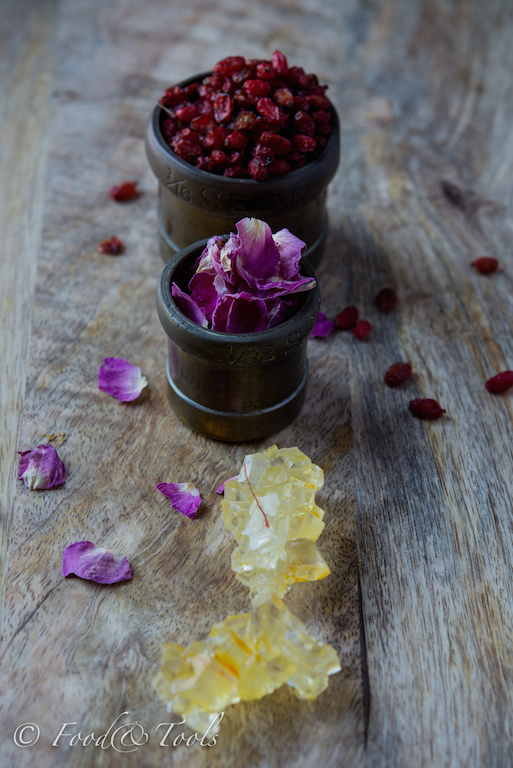 Barberries, Rose Petals and Saffron Sugar Crystals