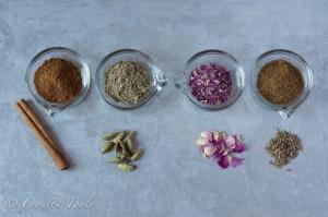 Cinnamon, Cardamon, Rose Petals, Cumin_Persian Spice Mix