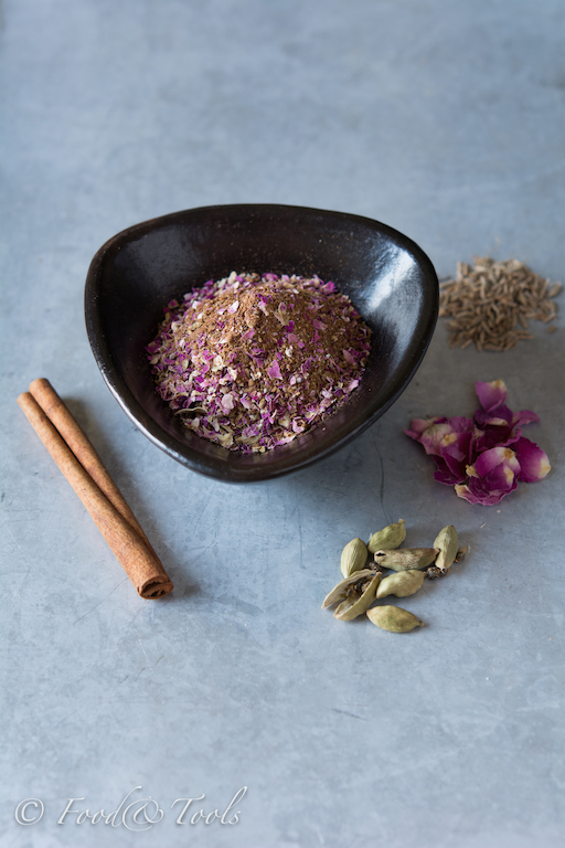 Persian Spice Mix-rose petals,cumin,cinnamon and cardamon