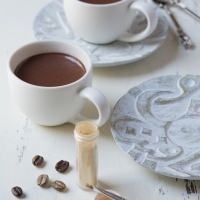Espresso Cups with Chocolate and Coffee Cream