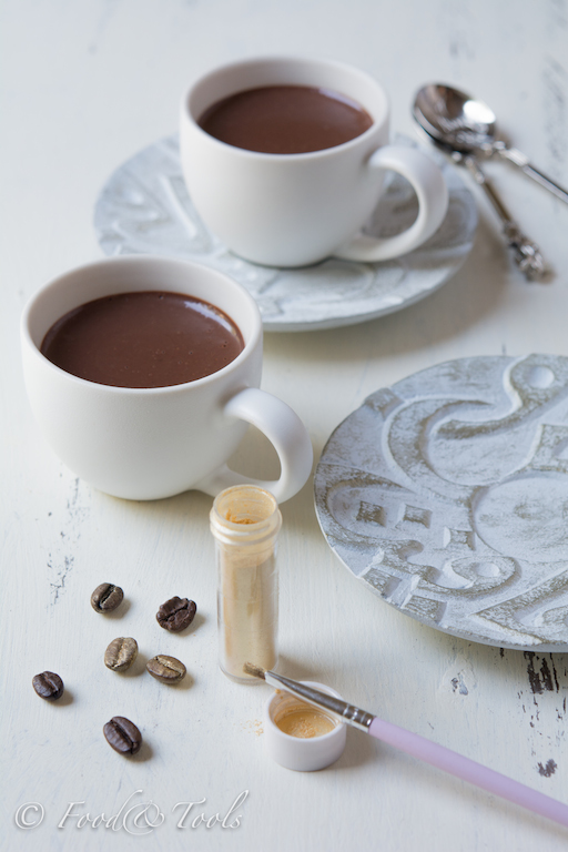 Espresso Cups with Chocolate and Coffee Cream*