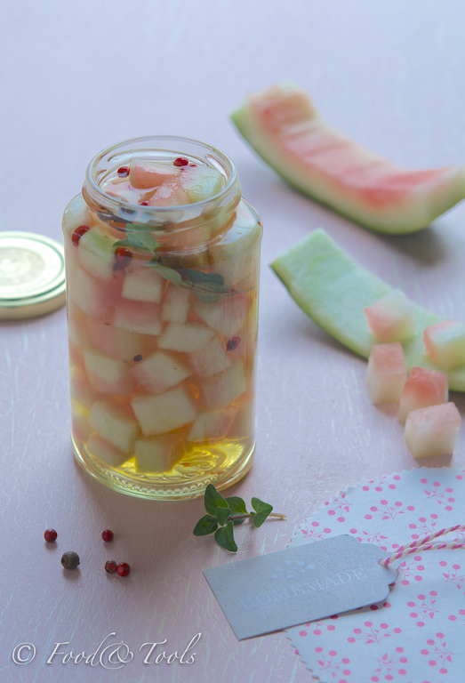 Pickled Watermelon Rind:Homemade