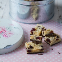 Cherry Coconut Chocolate Slices | Old-Time Favourites